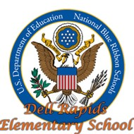 Dell Rapids Elementary School and Blue Ribbon Symbol icon
