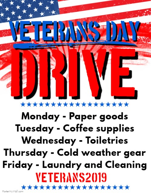 Veteran's Day Drive poster