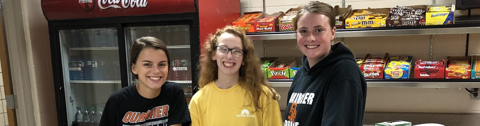 High school students help with concessions.