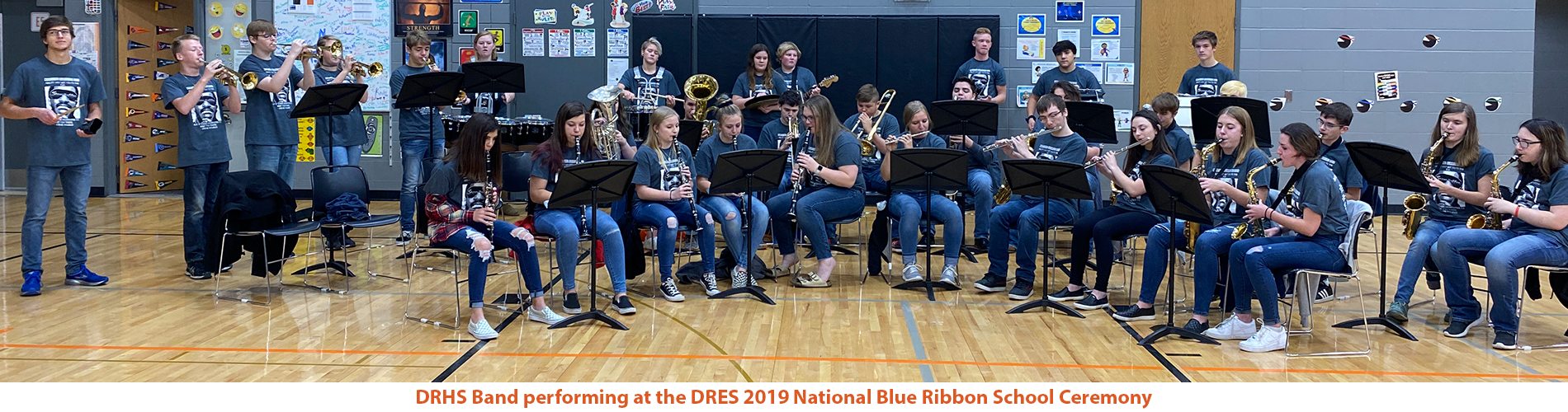 DRHS Band performing at the DRES 2019 National Blue Ribbon School Ceremony