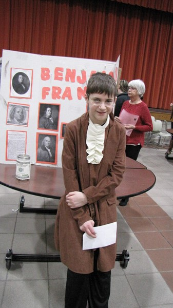 5th grade student - Living History Fair